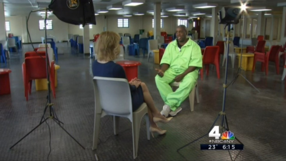 NBC's Sarah Wallace Interviews Darius at Rikers Island